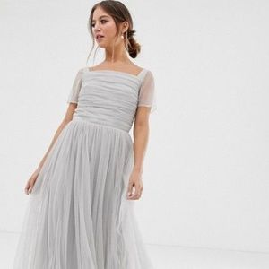 ASOS Tulle Grey Dress